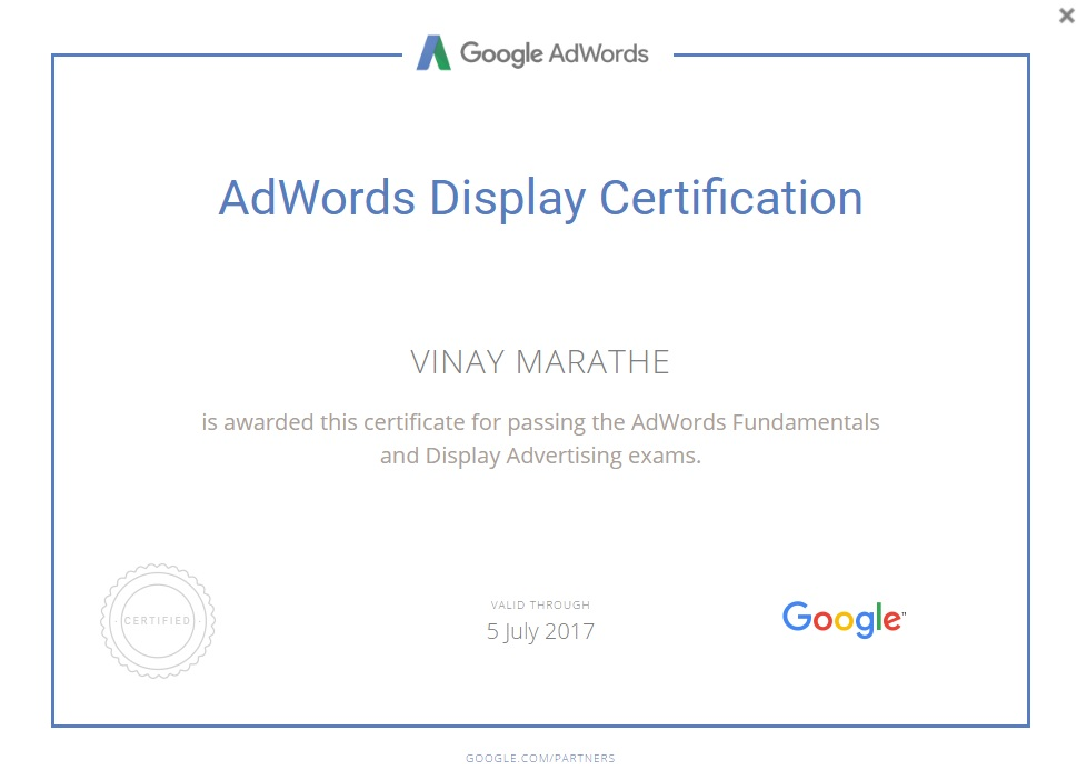 AdWords-Display-Certification