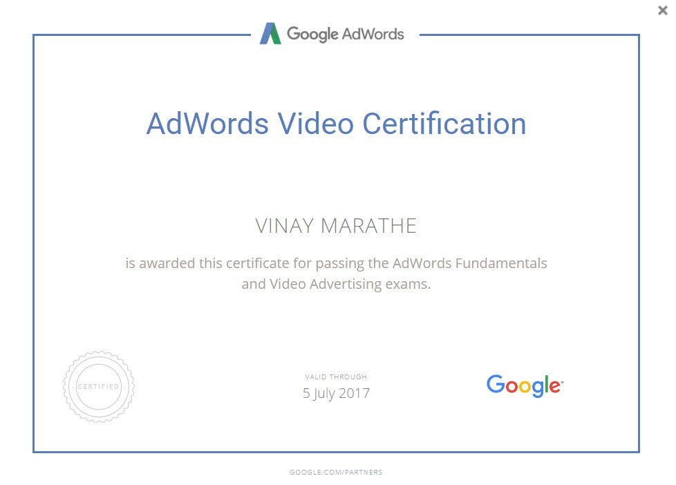 AdWords-Video-Certification