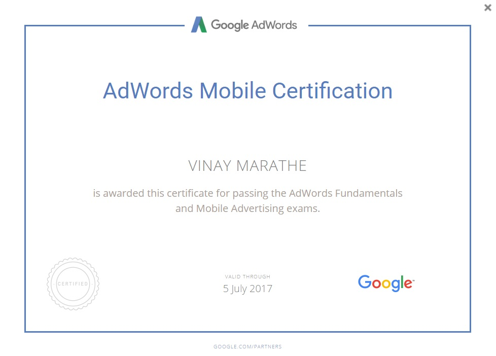 AdWords-Mobile-Certification